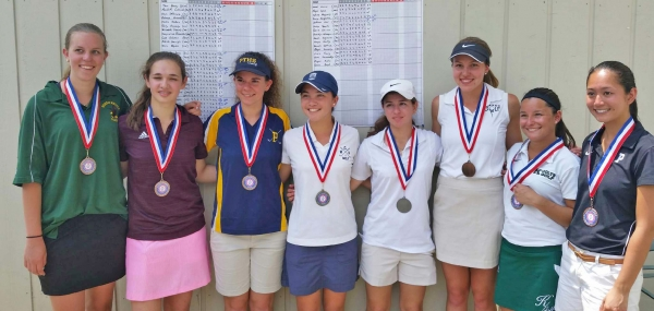 The top eight finishers posed for a photo after the NJAC Tournament.