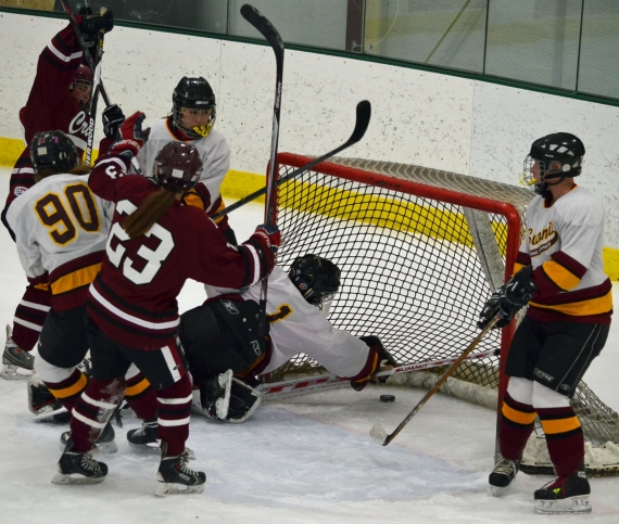 The Crimson scored six goals in the third period against Summit.