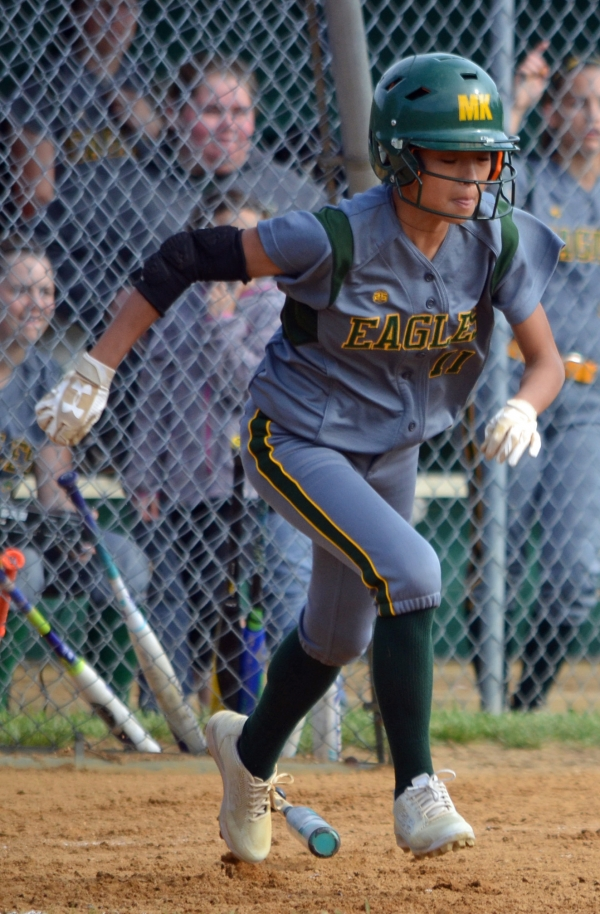 Danica Lee, No. 11, is one of four seniors on the 2018 Morris Knolls squad.