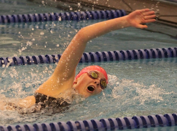 Regan Kology of Chatham swims the 200-yard freestyle.