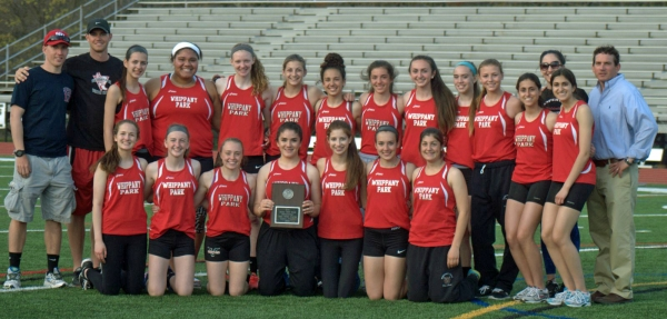 The Wildcats scored 72 points and split the Morris County Relays crown with Mendham.