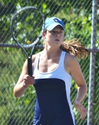 Bridgette Hickey, a transfer from North Carolina, is playing in a county tournament for the first time. She is pictured above. Mendham's Katie Gutknecht, pictured in the slideshow, hopes to defend her third singles title.