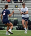Chatham's Bridget Ballard, right, looks to pass in MCT semifinal action against Mendham.