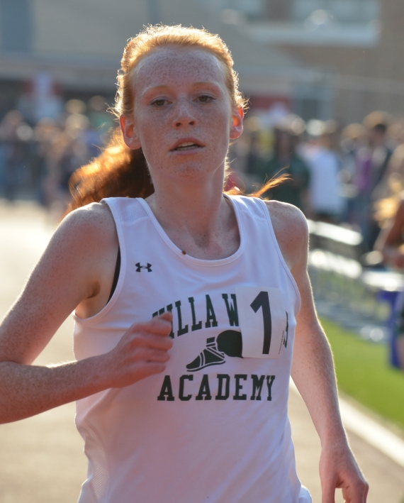 Megan Curham of Villa Walsh established a new record in the 3,200.