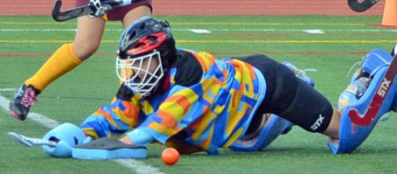 Mackenzie Vorel, a freshman goalie, has played a significant role for Randolph this season.