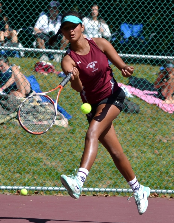 Morristown third singles player Nevi Shah gets set to make a return.