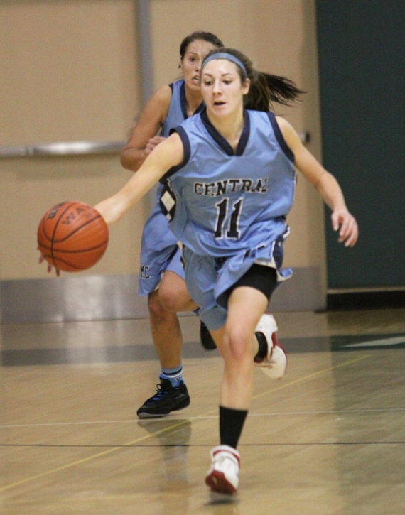 West Morris' Amy McQuaide chases after the ball.