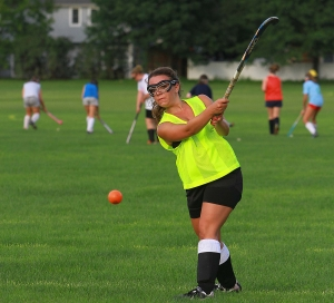 A Pequannock player drives the ball at a recent practice
