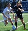 Parsippany Hills' Lauren McLaughlin controls the ball during the Group II soccer final at Kean University on Saturday, Nov. 19.