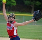Carly Homler of Par-Troy East gets set to unleash a pitch.