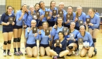 Wolfpack players display their plaques after winning the 2014 Morris County Volleyball Tournament.