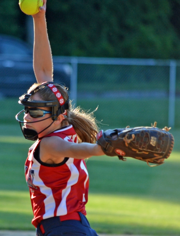Talie Braga, pictured below, doubled in the sixth inning of the decisive Section 1 game against Pequannock to tie the score. Tori Freire, above, fanned eight.