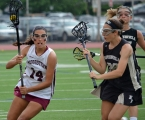 Morristown's Mackenzie Sundin, left, works her way upfield during the state final.