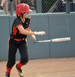 Alyssa Segnello's triple accounted for two of Mount Olive's three runs in the sixth inning of the Group III state final. The Marauders lost to Hightstown, 9-4.