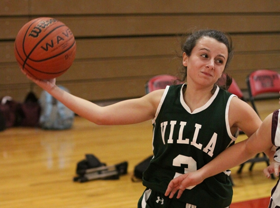 Jessica Racanelli of Villa Walsh looks to pass the ball.