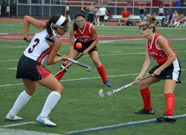 Boonton's Bella Viruet, left, air dribbles during a game against Parsippany on Sept. 9.