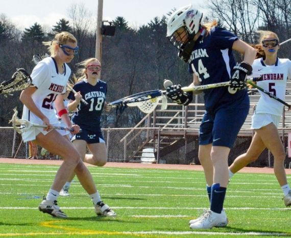 Chatham, down by six goals, rallied to a win over Mendham.