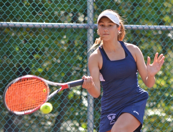 Chatham's Seden Agar, above, took top honors at second singles. First singles titlist Scarlett Blydenburgh is pictured in the slideshow.