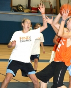 Jefferson High School basketball player Sammy Lapszynski took part in the Find The Courage 3-On-3 Tournament.