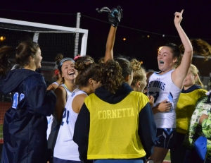 West Morris commences it celebration after claiming its first MCT title in field hockey.