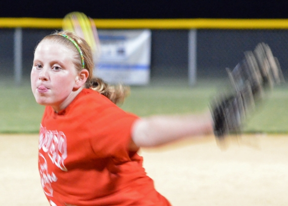 Alyssa Pavone, above, has handled the pitching duties for the Hanover 9/10 All-Stars.