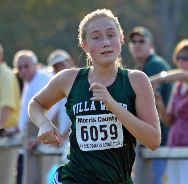 Sophie Henderson took first in the NJAC Small Schools Race at Central Park in Parsippany.