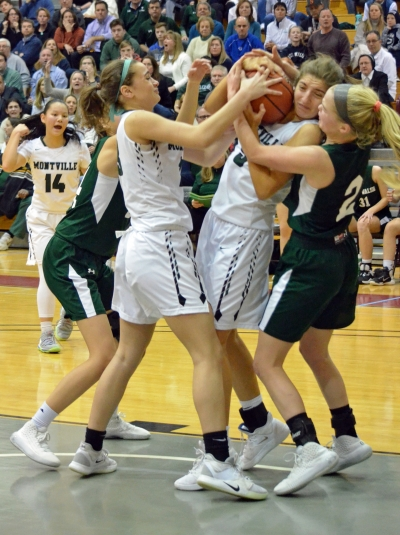Villa Walsh gave top-seeded Montville all it could handle in a Morris County Tournament semifinal on Feb. 21, 2020.